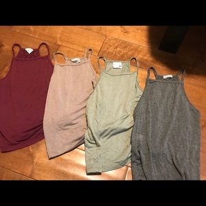 Halter Tanks In 4 Colors all XS one S